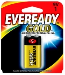 9 VOLT EVEREADY GOLD ALKALINE BATTERY