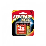 4 PACK AA EVEREADY GOLD ALKALINE BATTERIES