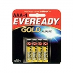 4 PACK AAA GOLD ALKALINE BATTERIES