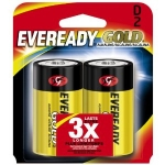 "2 PACK ""D"" CELL  EVEREADY GOLD ALKALINE"