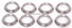 CHROME MOLY SPACERS (PKG 8)